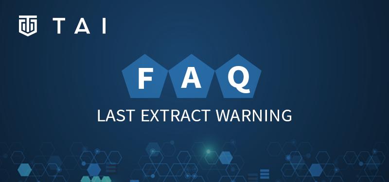 FAQ Blog Last Extract Warning