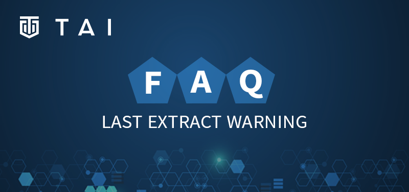 FAQ Blog Last Extract Warning