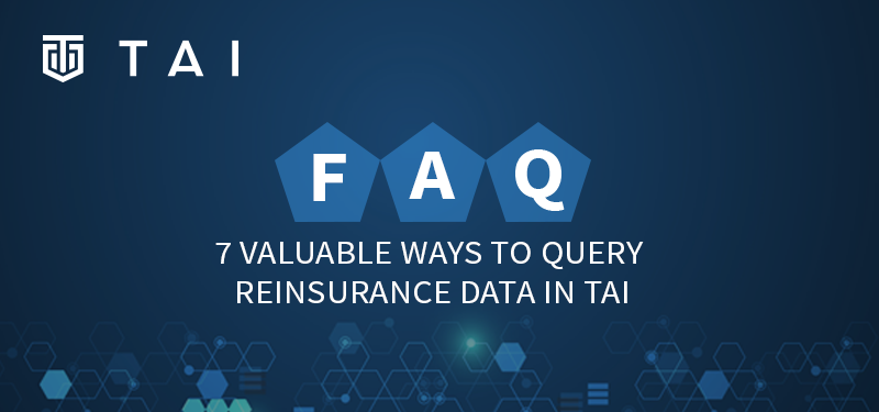 Banner FAQ Blog Query Reinsurance Data TAI